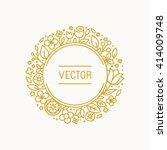 vector vintage frame in trendy... | Shutterstock .eps vector #414009748