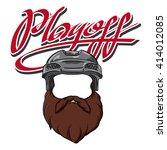 bearded hockey player | Shutterstock .eps vector #414012085