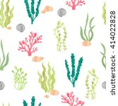 watercolor seamless pattern... | Shutterstock .eps vector #414022828