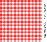 red seamless gingham pattern  | Shutterstock .eps vector #414026692