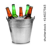Beer Bottles In Ice Bucket ...