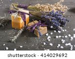 Organic Soaps With Blue And...