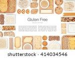 various gluten free grains and... | Shutterstock . vector #414034546