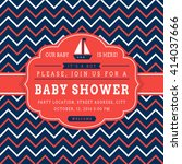 nautical baby shower. sea theme ... | Shutterstock .eps vector #414037666