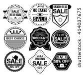 set of sale price discount... | Shutterstock .eps vector #414037675