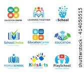 education and learning logo set ... | Shutterstock .eps vector #414050515