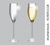 glass of champagne full and... | Shutterstock .eps vector #414051118