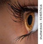Woman Eye With Long Eyelashes....