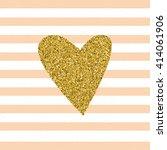 trendy hearts color vector on... | Shutterstock .eps vector #414061906