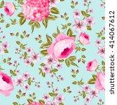 spring flowers pattern.   Shutterstock .eps vector #414067612