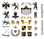 heraldic royal symbols emblems... | Shutterstock .eps vector #414069976