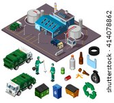 recycling center isometric... | Shutterstock .eps vector #414078862
