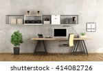 contemporary home office with ...   Shutterstock . vector #414082726