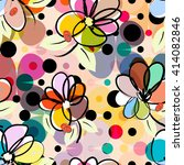 abstract floral pattern... | Shutterstock .eps vector #414082846