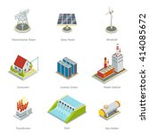 smart grid elements. power... | Shutterstock .eps vector #414085672