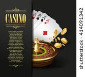 casino background. vector poker ... | Shutterstock .eps vector #414091342