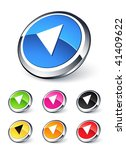 left arrow icon | Shutterstock .eps vector #41409622