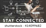 stay connected communication... | Shutterstock . vector #414099682