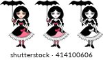 little goth emo girl with...