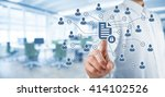 corporate data management... | Shutterstock . vector #414102526