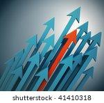 3d arrows background | Shutterstock . vector #41410318