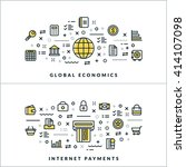 global economics and internet... | Shutterstock .eps vector #414107098