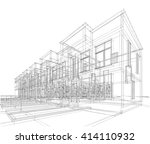 architectural background. 3d... | Shutterstock . vector #414110932