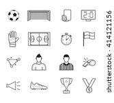 soccer elements for sport and... | Shutterstock .eps vector #414121156