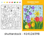 seasons coloring page for kids  ... | Shutterstock .eps vector #414126598