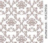 vector baroque vintage floral... | Shutterstock .eps vector #414129016