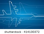 abstract airplane white lines ... | Shutterstock .eps vector #414130372