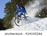cyclist riding bike  extreme... | Shutterstock . vector #414143266