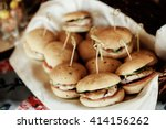 rustic catering service buffet... | Shutterstock . vector #414156262
