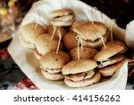 rustic catering service buffet...   Shutterstock . vector #414156262