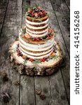 Wedding Cake In Rustic Style