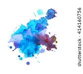 abstract expressive watercolor... | Shutterstock .eps vector #414160756