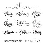 personal name olivia. vector... | Shutterstock .eps vector #414161176