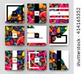 abstract vector brochure... | Shutterstock .eps vector #414165352