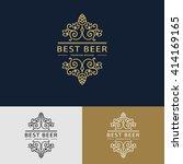line graphics monogram. logo... | Shutterstock .eps vector #414169165