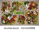 colorful casino gambling vector ... | Shutterstock .eps vector #414169888