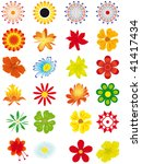 collection of flowers for... | Shutterstock .eps vector #41417434