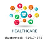abstract medicine background... | Shutterstock .eps vector #414174976