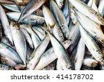 Stock photo sardines fish background 414178702