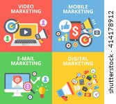 video marketing  mobile... | Shutterstock .eps vector #414178912