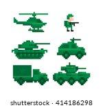 pixel image military equipment   Shutterstock .eps vector #414186298