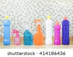house cleaning product on table | Shutterstock . vector #414186436