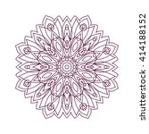 mandala. ethnic decorative... | Shutterstock .eps vector #414188152