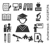 learning icon set | Shutterstock .eps vector #414189196
