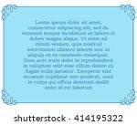 blue border frame deco vector... | Shutterstock .eps vector #414195322