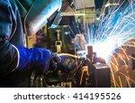 welder industrial automotive... | Shutterstock . vector #414195526